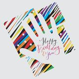 Happy Birthday!. Greeting card. Vector format Royalty Free Stock Photography
