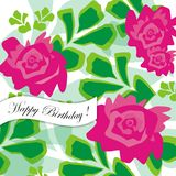 Happy Birthday Greeting Card. Vector illustration Stock Photo