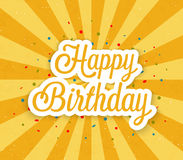 Happy Birthday greeting card. Stock Photo