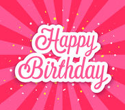 Happy Birthday greeting card. Stock Photography