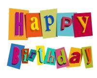 Happy Birthday greeting card. Vector illustration Vector Illustration