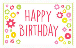 Happy Birthday Greeting Card Stock Photos