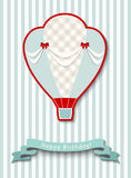 Happy birthday greeting card with vintage hot air balloon, illustration. Happy birthday greeting card with vintage hot air balloon, vector illustration Stock Photography