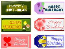 Happy birthday greeting cards Stock Photo
