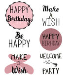 Happy Birthday greeting, invitation text Royalty Free Stock Photos