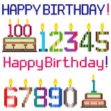 Happy Birthday Greeting, Number Candles Royalty Free Stock Image