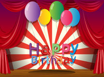 A happy birthday greeting at the stage Royalty Free Stock Images