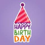Happy Birthday Greeting Sticker Stock Photo