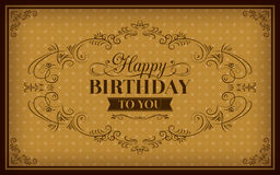 Happy Birthday greeting vintage frame Royalty Free Stock Photo