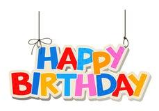 Happy birthday greetings Stock Image