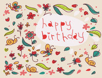Happy birthday greetings card Stock Photo