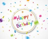 Happy birthday greetings Royalty Free Stock Photography