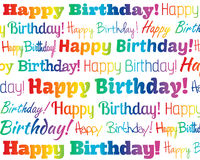 Happy Birthday. Grouped collection of different  text Royalty Free Stock Images