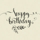 Happy Birthday Hand-drawn card. Vector Royalty Free Stock Photo