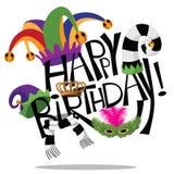Happy birthday hand drawn lettering Royalty Free Stock Photo