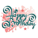 HAPPY BIRTHDAY hand lettering Royalty Free Stock Images