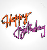 HAPPY BIRTHDAY hand lettering (vector) Stock Photo
