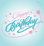 HAPPY BIRTHDAY hand lettering (vector) Royalty Free Stock Image
