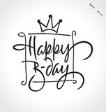 HAPPY BIRTHDAY hand lettering (vector) Stock Images