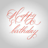 `happy birthday` hand lettering - handmade calligraphy,  Stock Images