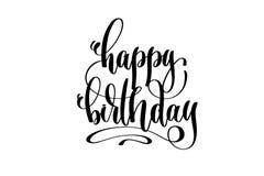 Happy birthday hand lettering inscription celebration design. Calligraphy vector illustration Royalty Free Stock Photos