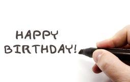 Happy Birthday Hand writing