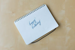 Happy birthday hand writing Stock Image