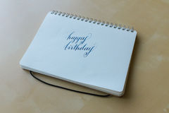 Happy birthday hand writing Royalty Free Stock Photography
