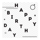 Happy birthday. Vector illustrations and objects Royalty Free Stock Images