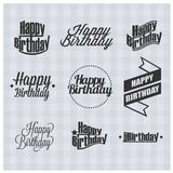 Happy birthday. Vector illustrations and objects Royalty Free Stock Photos
