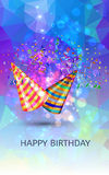 Happy birthday Hats and Confetti Surprise Stock Images