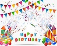 Happy birthday holiday background. Illustration of Happy birthday holiday background Stock Illustration