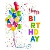 Happy birthday holiday card Stock Image