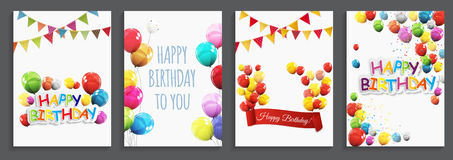Happy Birthday, Holiday  Greeting and Invitation Card Template S Royalty Free Stock Images