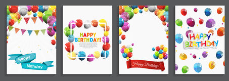 Happy Birthday, Holiday  Greeting and Invitation Card Template S Stock Image