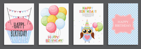 Happy Birthday, Holiday  Greeting and Invitation Card Template S Royalty Free Stock Photography