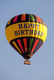 Happy Birthday hot air balloon ride. Stock Images