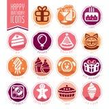Happy Birthday Icon Set Stock Image
