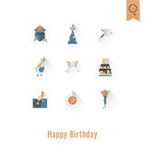 Happy Birthday Icons Set Royalty Free Stock Photography