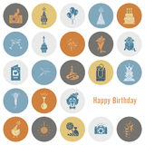 Happy Birthday Icons Set Stock Image