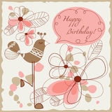 Happy birthday illustration Stock Images