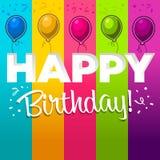 Happy Birthday Illustration vector illustration