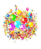 Happy birthday illustration with balloons Royalty Free Stock Images