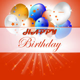 Happy birthday  illustration with balloons on the background Royalty Free Stock Photos