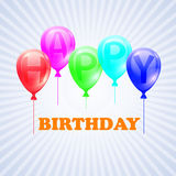 Happy Birthday. Illustration of balloons with. Letters. EPS 10 Royalty Free Stock Images