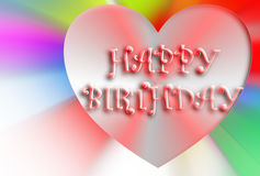 Happy birthday illustration Royalty Free Stock Photos