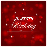 Happy birthday  illustration with light on the background Royalty Free Stock Photos