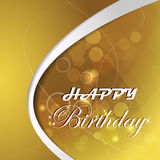 Happy birthday  illustration with light and bubbles Royalty Free Stock Image