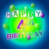 Happy Birthday Indicates Celebrating Fun And Party Stock Photo