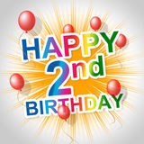 Happy Birthday Indicates Congratulating Celebrating And 2Nd Stock Images